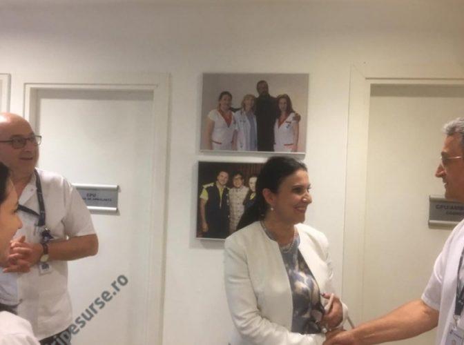 SANADOR după vizita inopinată a ministrului Sorina Pintea: A făcut un tur al spitalului. Vizita a vizat Unitatea de Primiri Urgențe