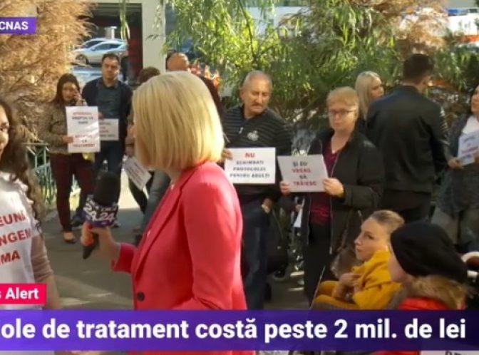 BREAKING Protest în fața CNAS: Acuzații GRAVE la adresa conducerii/ VIDEO