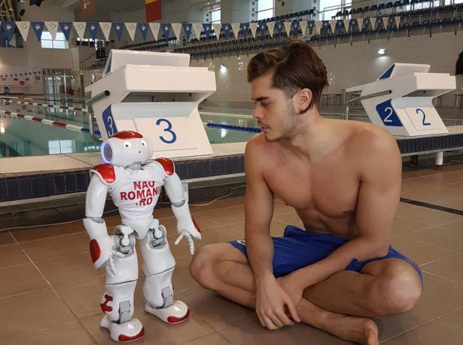 Robert Glință, speranţa României pentru medalie olimpică la înot, se pregătește pentru Tokyo…cu un robot!